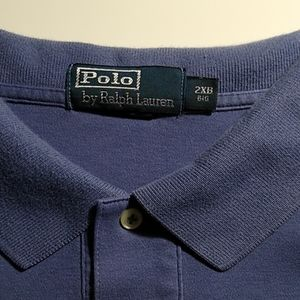 2XB polo by Ralph Lauren solid blue